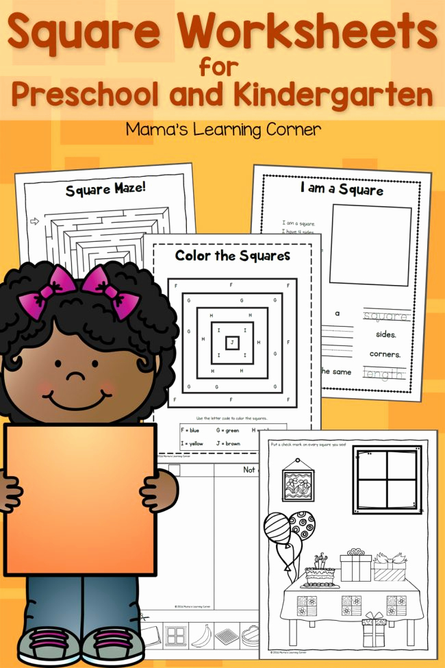 Worksheet for Preschool Of Square Worksheets for Preschool and Kindergarten Mamas