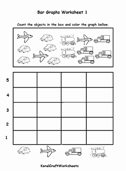 Bar Graph Worksheet Preschool or Kindergarten Bar Graph Worksheet 1 by Koral Craft