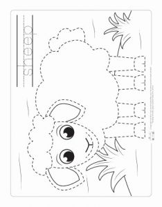Farm Tracing Preschool Worksheets and Farm Animals Tracing Coloring Pages