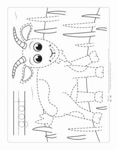 Farm Tracing Preschool Worksheets Of Farm Animals Tracing Coloring Pages