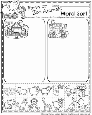 Farm Tracing Preschool Worksheets or Back to School Preschool Worksheets