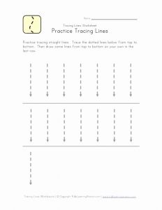 Preschool Line Tracing Worksheets and Trace Lines Down Worksheet