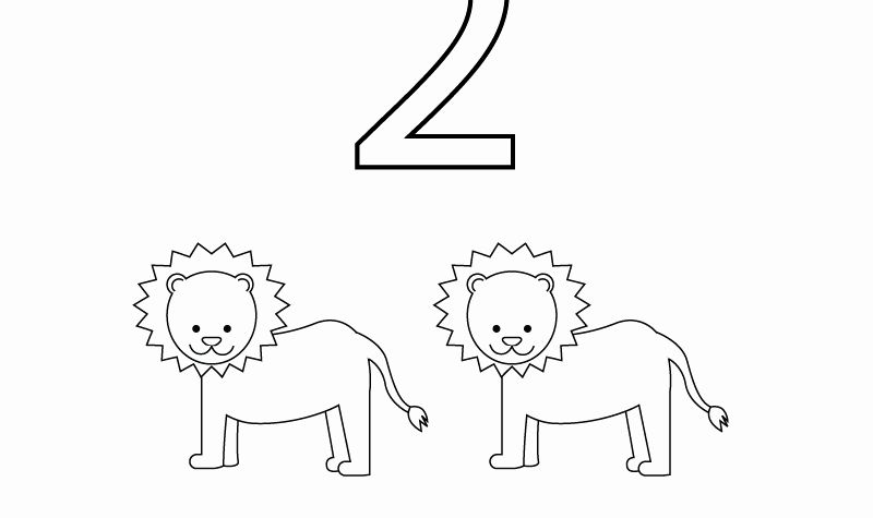 Preschool Worksheets 2 or Free Preschool Number Two Learning Worksheet