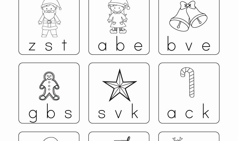 Preschool Worksheets Christmas Writing and Free Printable Christmas Phonics Worksheet for Kindergarten