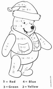 Christmas Addition Worksheet Printable or Free Printable Math Coloring Pages for Kids