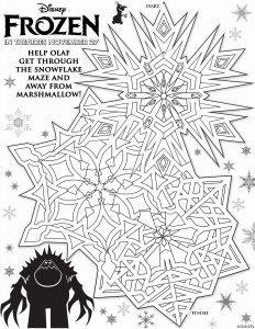 Christmas Maze Worksheet Pdf and Free Printable Maze Activity Sheets to Celebrate Frozen