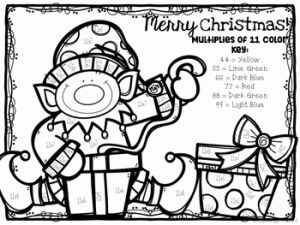 Christmas Multiplication 2 and Christmas Multiplication Color by Number 2 12 by
