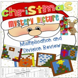 Christmas Multiplication 2 Of Christmas Multiplication and Division 2 by Brittany