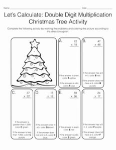 Christmas Multiplication 2 Of Let S Calculate 2 & 3 Digit Multiplication Christmas