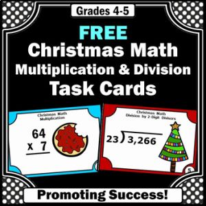 Christmas Multiplication Of Free 5th Grade Christmas Math Activities Multiplication