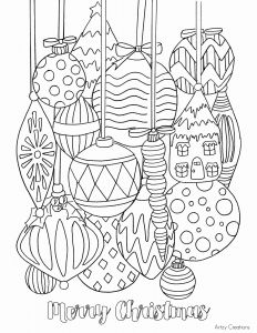 Christmas ornament Coloring Pages and Free Christmas ornament Coloring Page Artzycreations