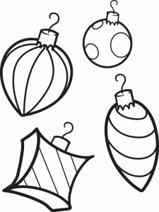 Christmas ornament Coloring Pages Of Free Printable Christmas ornaments Coloring Page for Kids