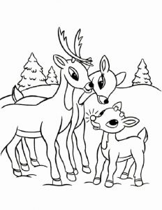 Christmas Reindeer Coloring Worksheets and Rudolph Coloring Pages