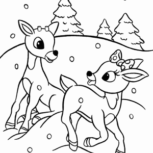 Christmas Reindeer Coloring Worksheets then Rudolph Santa Claus Christmas Coloring Pages for Kids