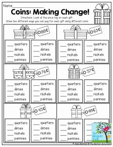 Money Management Worksheets for Students and Coins Making Change This is A Great Activity for 2nd Grade This Practical Life Exercise Would