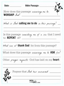 Printable Bible Study Worksheets or Free Printable Bible Study Lessons for Adults