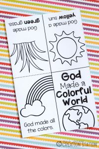 Printable Bible Study Worksheets or Free Printable Book for Teaching Colors