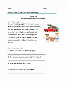 Www Free Reading Comprehension Worksheets then 1st Grade Reading Worksheets Best Coloring Pages for Kids