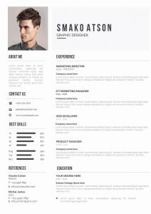 Template Of Resume for Job Application and Job Application Resume Editable Resume for Word [downloadable]