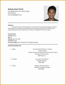 Template Of Resume for Job Application or Resume Sample format for Job Application Best Template Pdf Job Application Resume Template