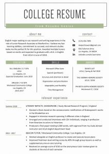 Template Resume Student and College Student Resume Sample & Writing Tips