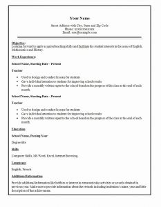 Resume Template Teacher Free and Simple Resume Template 47 Free Samples Examples format Download