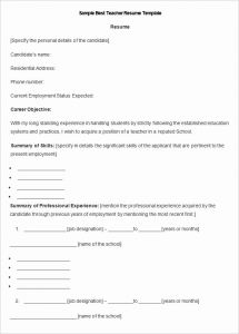 Resume Template Teacher Free and Teacher Resume Templates 43 Free Samples Examples & formats