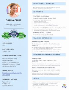 Resume Template Teacher Free or How to Make A Stand Out Line Teacher Resume Sample Bridgeuniverse