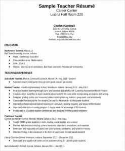 Resume Template Teacher Free then Resume Sample for Fresh Graduate Teacher without Experience