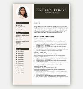 Template Resume Download or Free Resume Templates for Microsoft Word